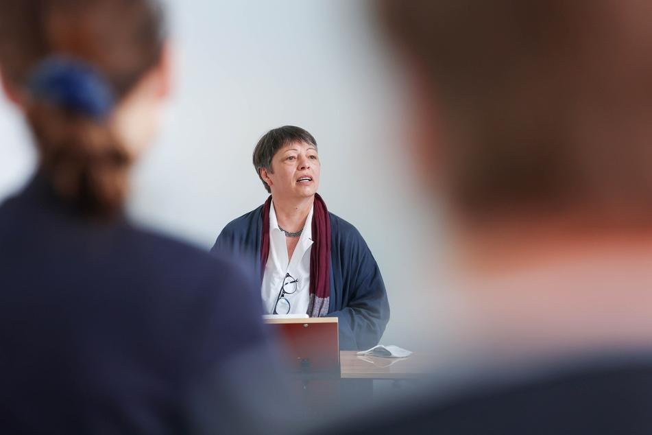 """""""Diskriminierung kommt im Alltag häufig vor"""": Zur Eröffnung sprach auch Gesine Märtens (49, Grüne), Staatssekretärin im sächsischen Justizministerium."""