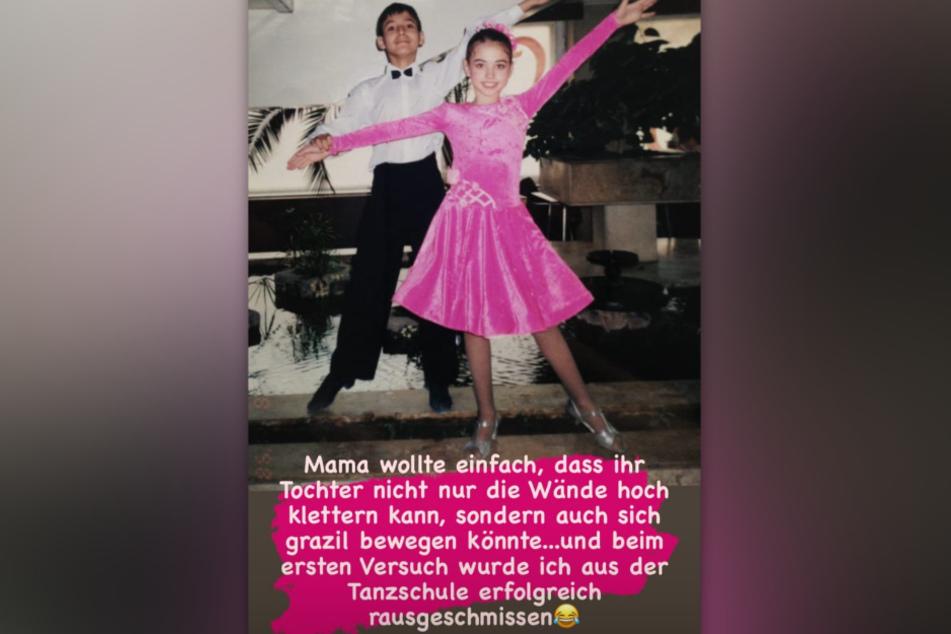 """""""Lets Dance""""-Star Ekaterina Leonova (33) hat ein altes Foto von den Beginnen ihrer Tanz-Karriere auf Instagram gepostet."""
