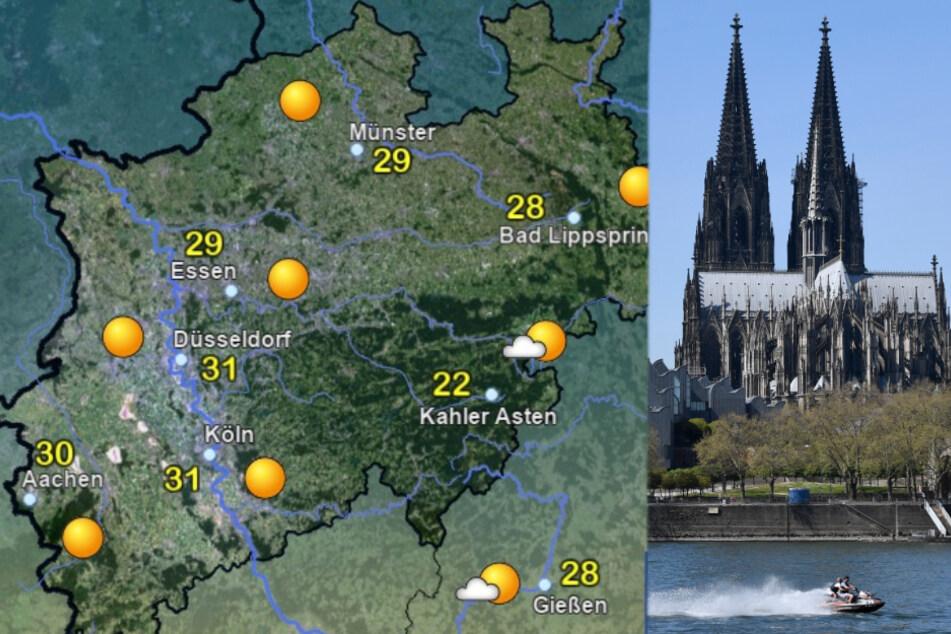 Wetter am Mittwochabend in NRW. (Fotomontage)