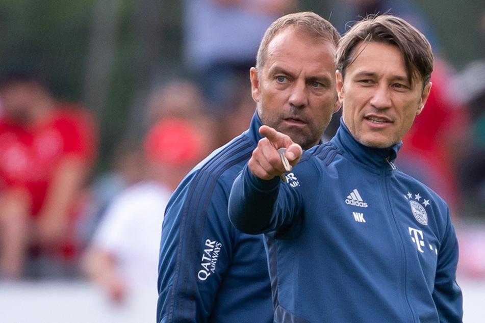 Niko Kovac und sein damaliger Co-Trainer und jetzt Triple-Coach Hansi Flick.