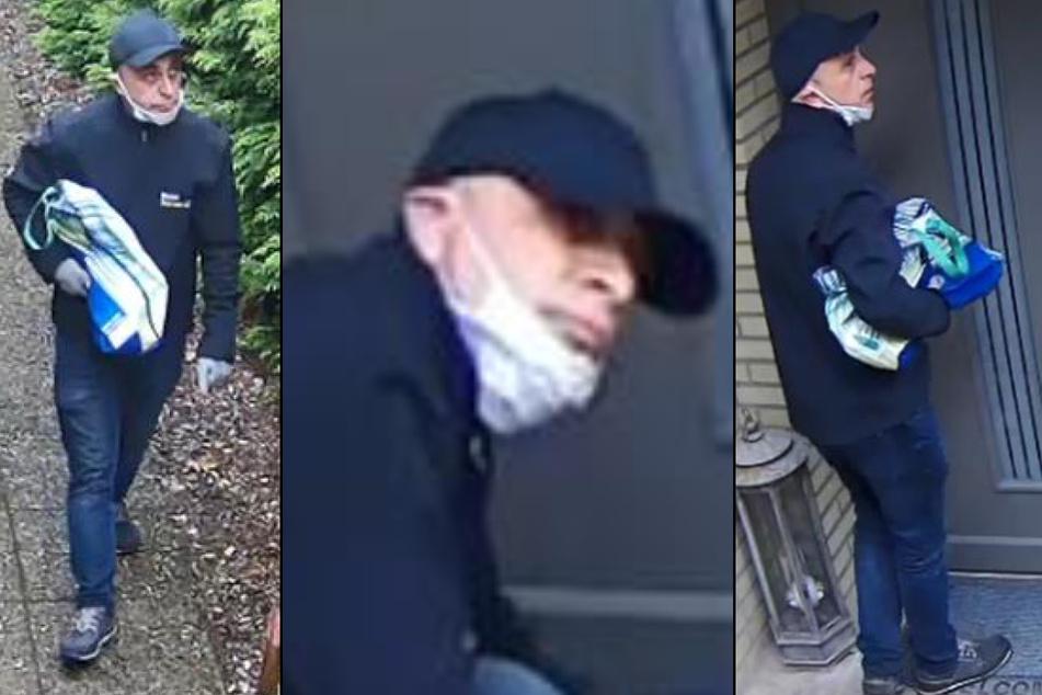 Die Kamera nahm den Tatverdächtigen mit abstehenden Ohren aus verschiedenen Blickwinkeln auf.