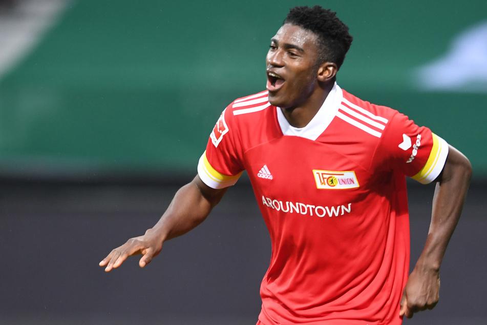 Taiwo Awoniyi (23) jubelt über sein Tor zum 2:0 bei Werder Bremen. Es war sein bislang letzter Treffer.