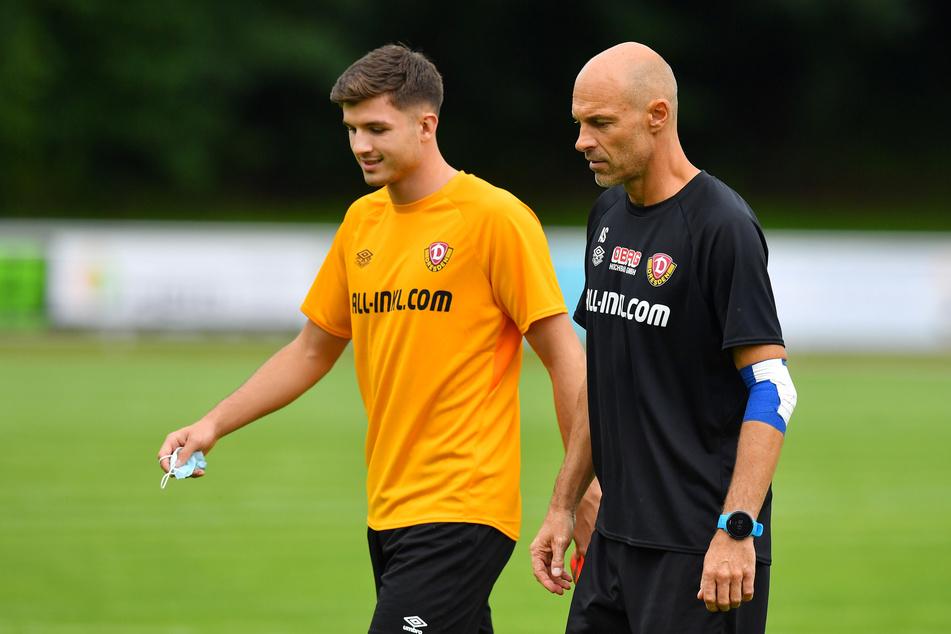 Antonis Aidonis (20) ist ab sofort Dresdner und stieg auch gleich am Montag ins Training ein!