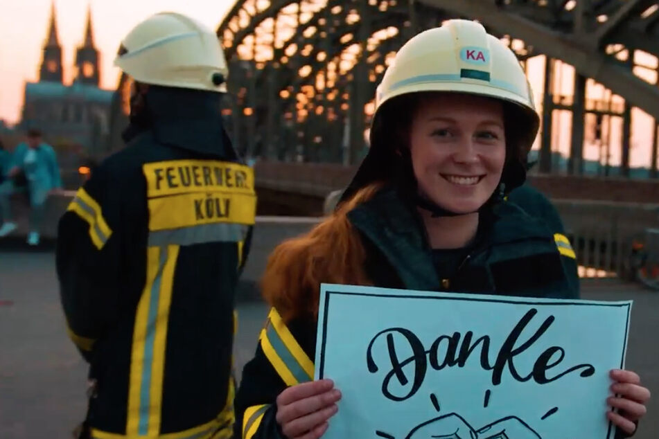 Starkes Video in schweren Zeiten! So sagt die Feuerwehr Köln: Danke!