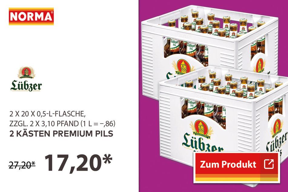 2 Kästen Premium Pils für 17,20 Euro