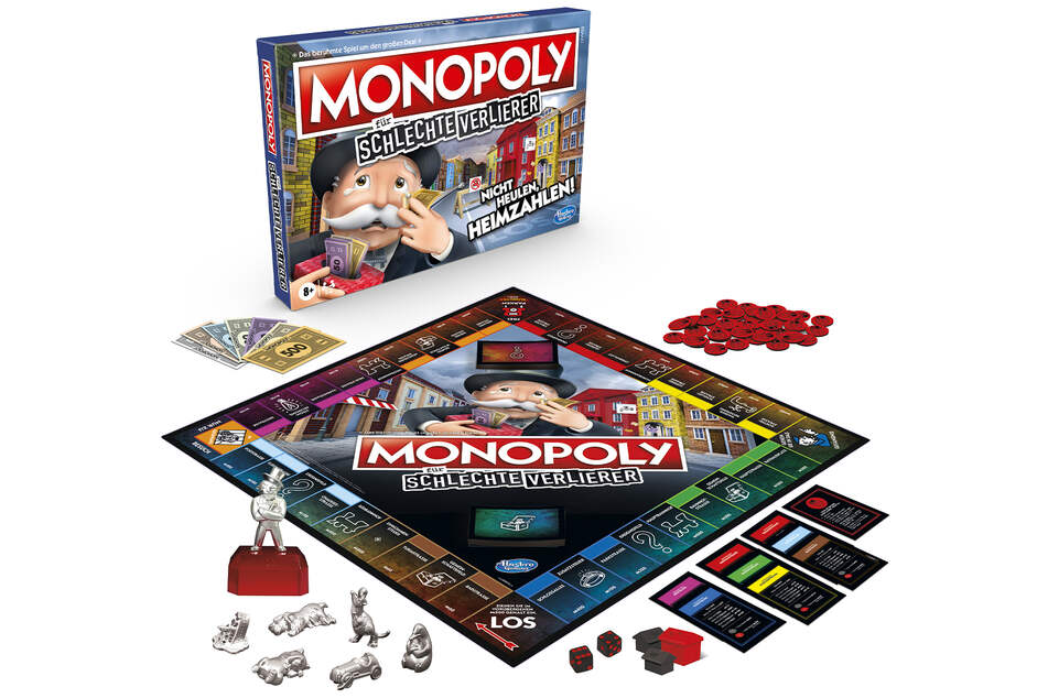 The German edition of the new Monopoly game for sore losers.