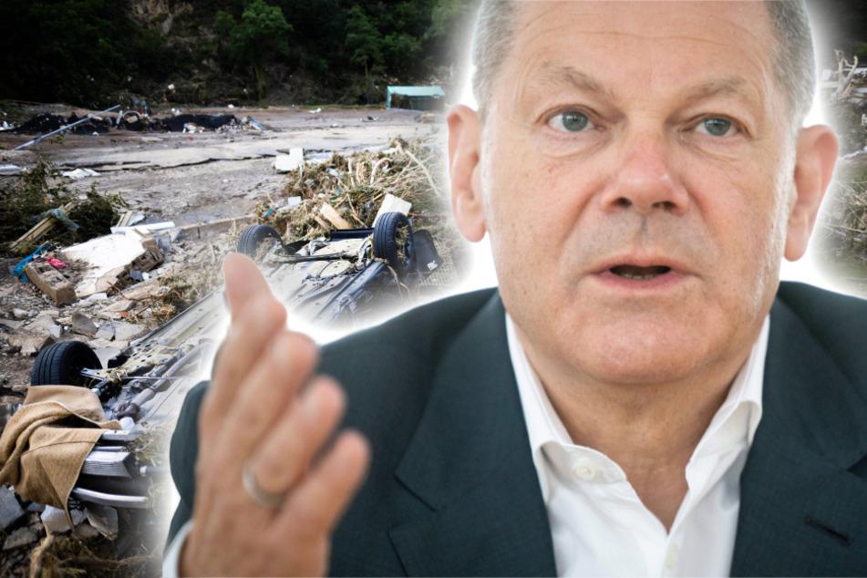 Deutschland versinkt im Hochwasser: Scholz verspricht mehrere Hundert Millionen Soforthilfe!