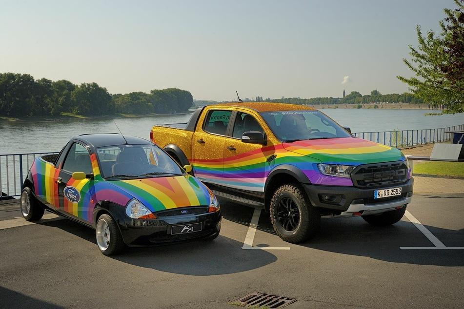 """Ford präsentiert den """"Very Gay Raptor"""" als Zeichen gegen Hasskommentare."""