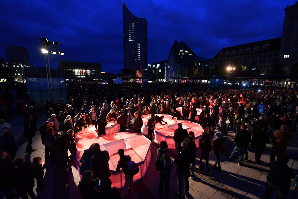Gedenken des Mauerfalls im vorigen Jahr in Leipzig.