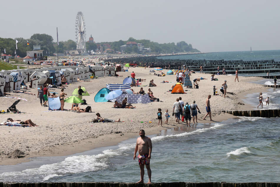 Bereits im Juni wieder gut besucht: der Ostseestrand in Mecklenburg-Vorpommern.