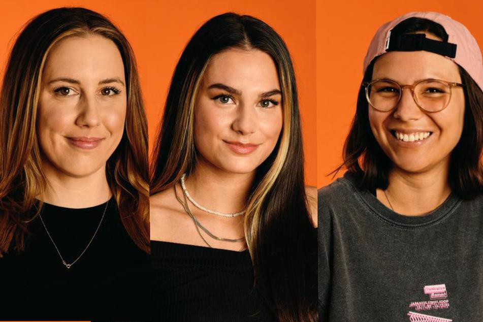 "Die ""Princess Charming""-Kandidatinnen Lia (30, l.), Lou (21, M.) und Miri (28). (Fotomontage)"