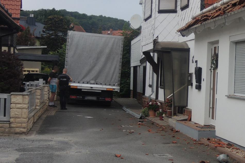 Der Lastwagenfahrer war auf eine Sackgasse zugefahren.