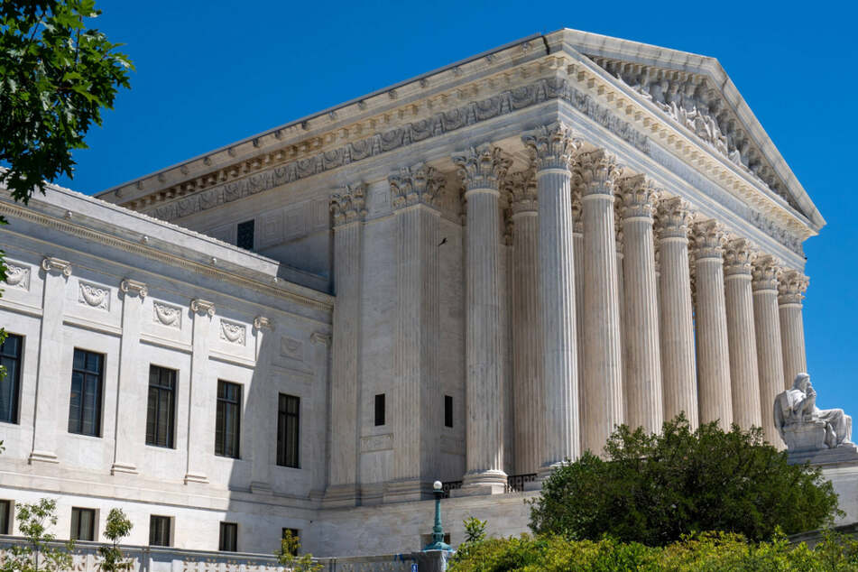 The US Supreme Court building on Capitol Hill in Washington DC on Thursday.