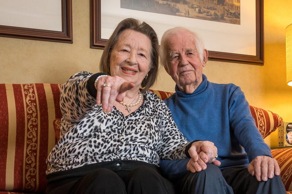 Unzertrennlich: Ingrid (90) und Kurt Biedenkopf (91).