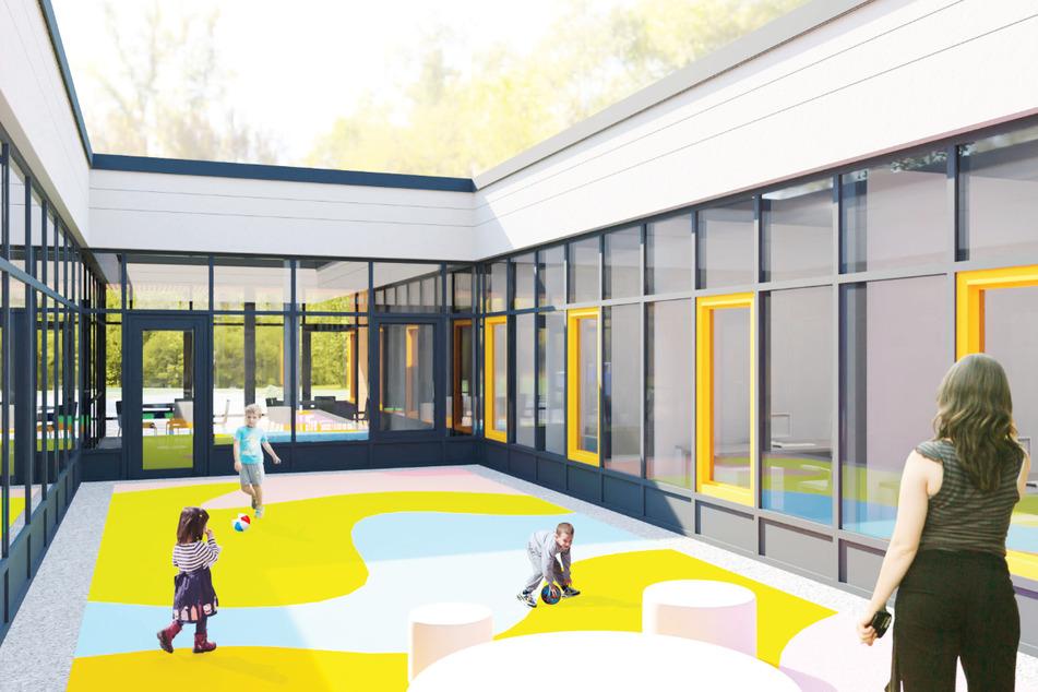 Im Neubau des Kinder- und Jugendnotdienstes soll es einen offenen Innhof geben.