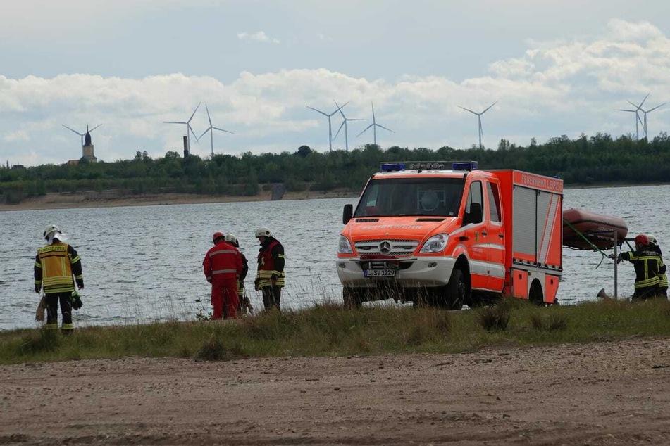 Rettungseinsatz am Freitagnachmittag am Zwenkauer See.