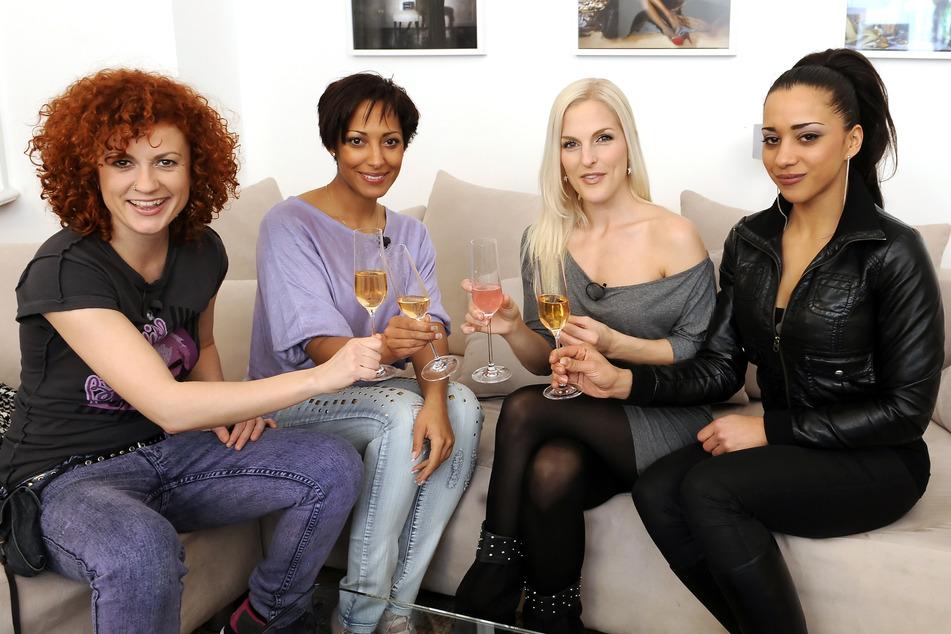 Die Sängerinnen Lucy Diakovska (l.-r.), Jessica Wahls, Sandy Mölling und Nadja Benaissa von der Band No Angels.