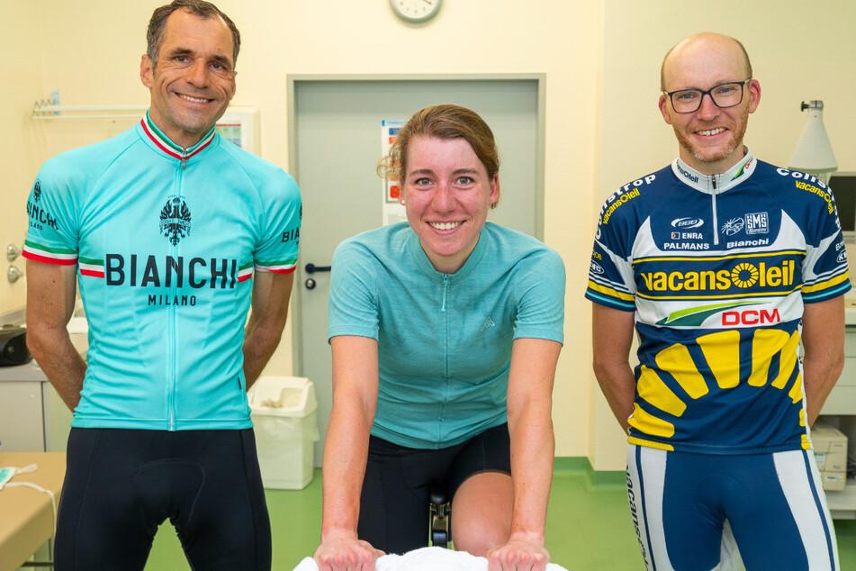 Hat schon zehn Tage lang über 4000 Kilometer im Rennradsattel gesessen: Dr. Fiona Kolbinger (25, Mi.).