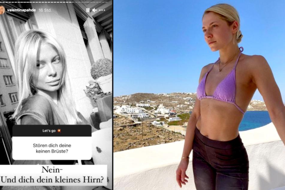 Valentina Pahde (26) lässt einen fiesen Follower dumm dastehen.
