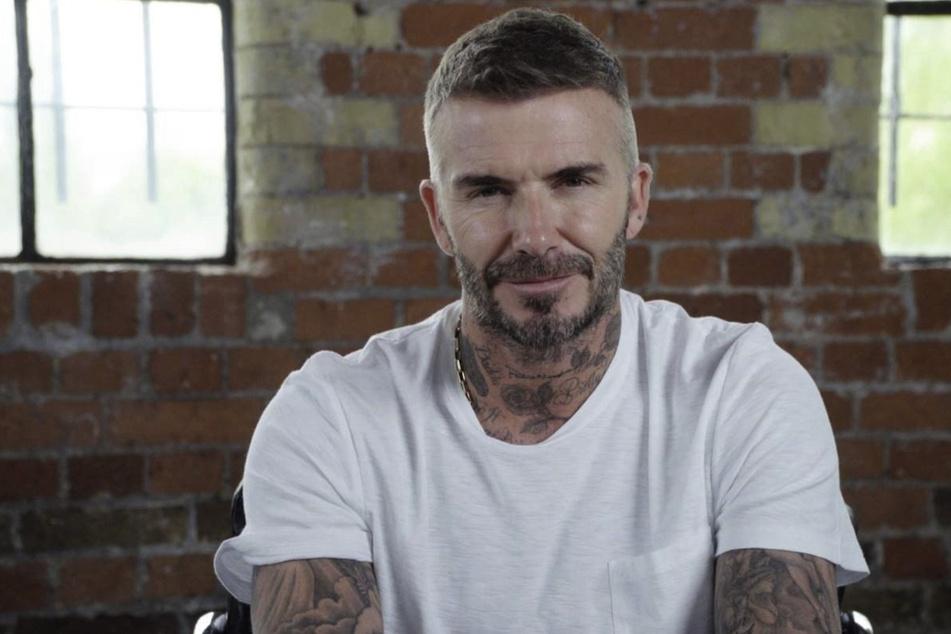 David Beckham (46) trug sonst dunkelblonde Haare.