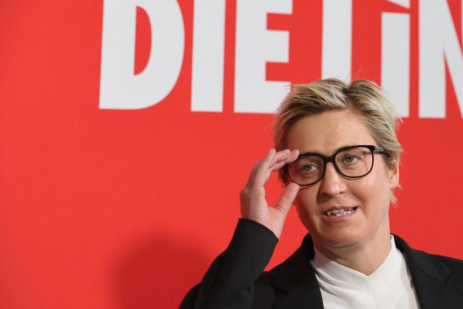 Susanne Henning-Wellsow (43) ist aktuell noch Landes- und Fraktionsvorsitzende der Linken in Thüringen. (Archivbild)