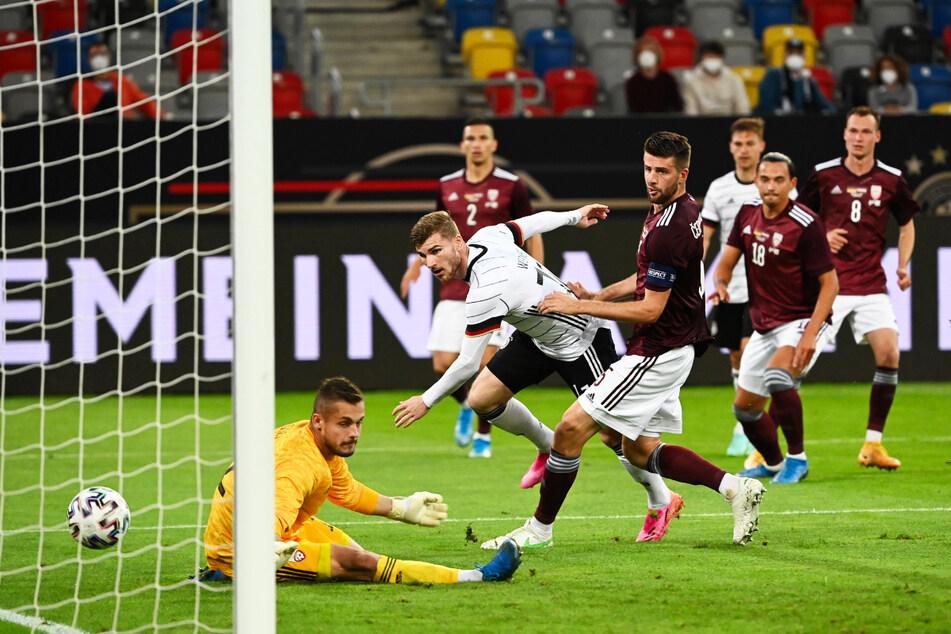 Timo Werner (25, 2.v.l.) erzielte für Deutschland in 42 Länderspielen 16 Tore und gab drei Vorlagen.