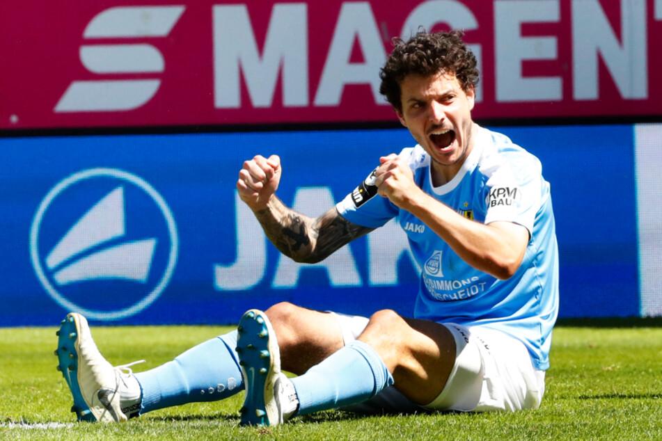Zum Saisonfinale gegen Rostock traf Philipp Hosiner dreimal für den CFC. Gereicht hat es dennoch nicht.