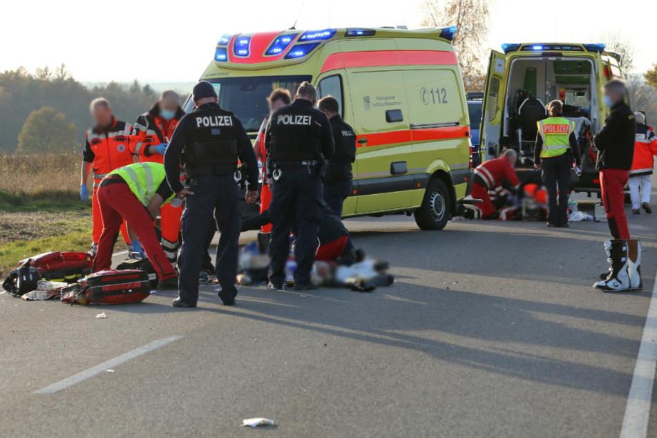 Schlimmer Crash: Motorradfahrer verunglückt auf S201 und stirbt