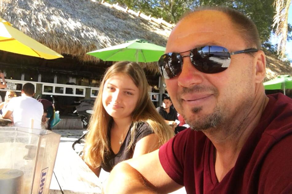 Die Zanders in den USA: Dirk und seine Tochter Antonella genießen die Sonne Floridas.