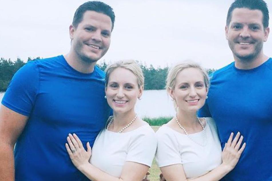 Zwillings-Schwestern sind mit Zwillings-Brüdern verheiratet, nun werden beide Paare Eltern