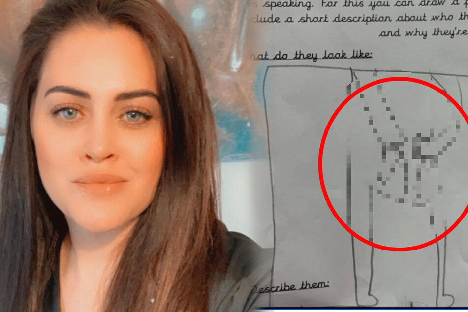 Mother can't stop laughing when she sees the picture her son drew