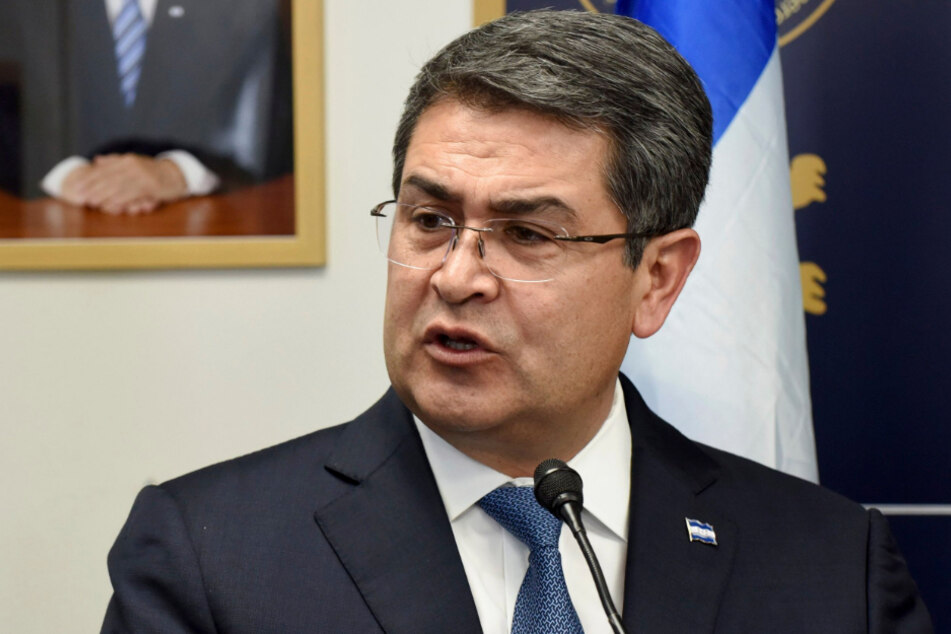 Juan Orlando Hernandez, Präsident von Honduras, spricht bei einer Veranstaltung.