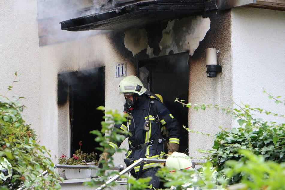 Die Doppelhaushälfte ist nach dem Brand unbewohnbar.
