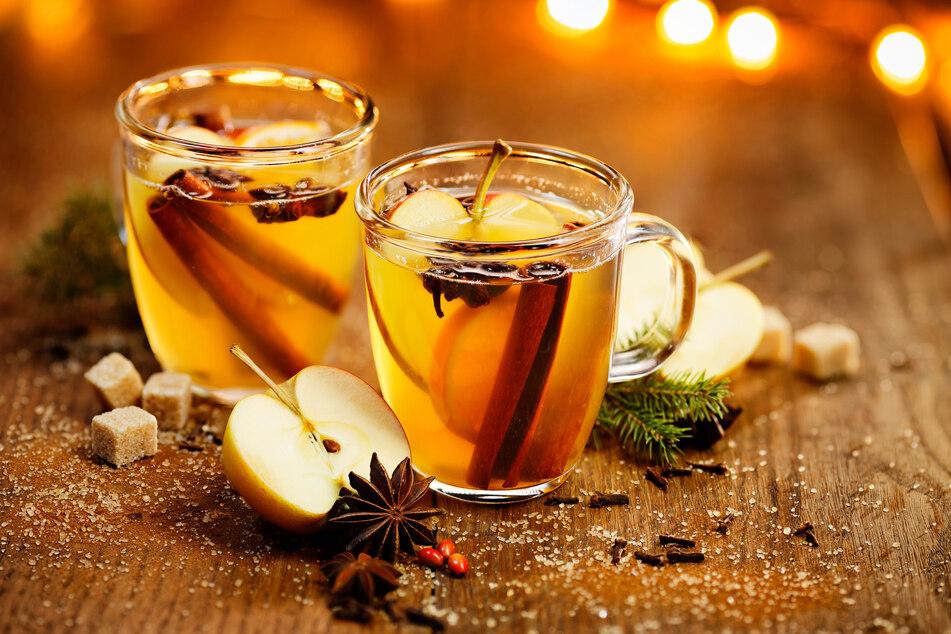 Fruchtig und leicht herb: Der Hot Mulled Apple Cider mit spiced Butter.
