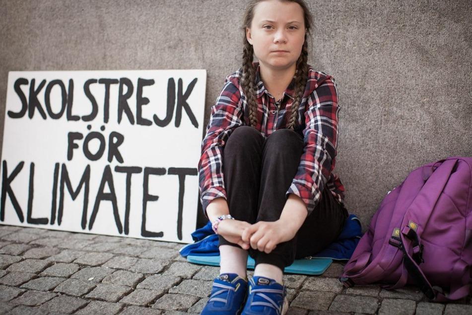 So fing alles an: Greta Thunberg streikt vor dem schwedischen Parlament.
