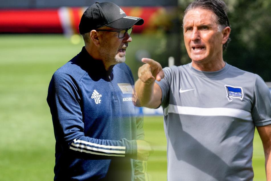 Union-Coach Urs Fischer und Hertha-Trainer Bruno Labbadia treffen Anfang Dezember aufeinander (Bildmontage)