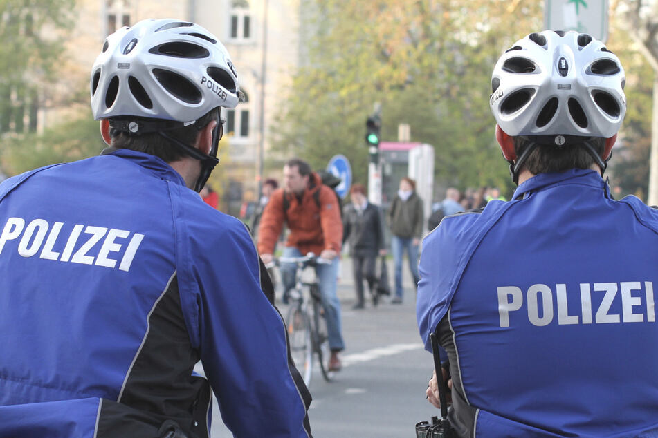 Schon seit mehr als zehn Jahren sorgen Polizei-Radler für Sicherheit und Ordnung auf Dresdens Straßen.