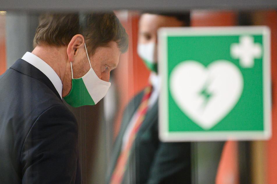 Michael Kretschmer (45, CDU), Ministerpräsident von Sachsen, vor Beginn der Sitzung des Sächsischen Landtages am Donnerstag.