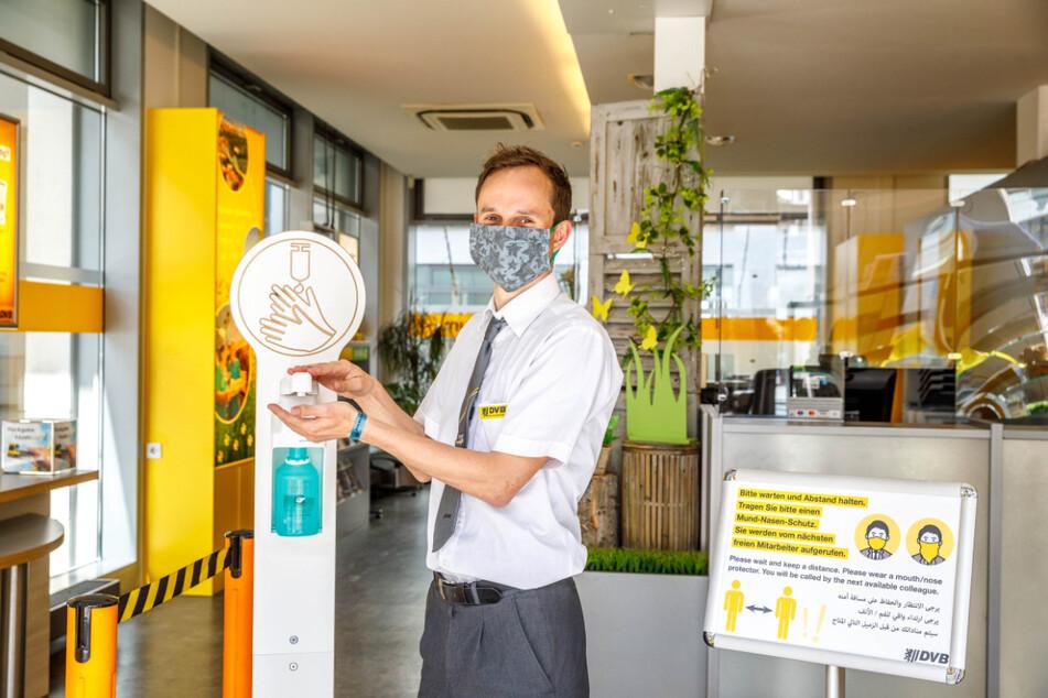 Im DVB-Kundenzentrum am Postplatz ist man bereit für Besucher.