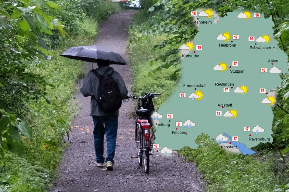 Die Woche startet in Baden-Württemberg regnerisch, zum Dienstag hin soll es dann freundlicher werden. (Fotomontage)