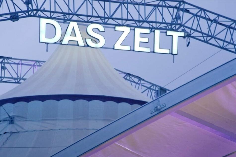 In diesem Zelt steigt am Samstag (8.5.) eine coole TV Show
