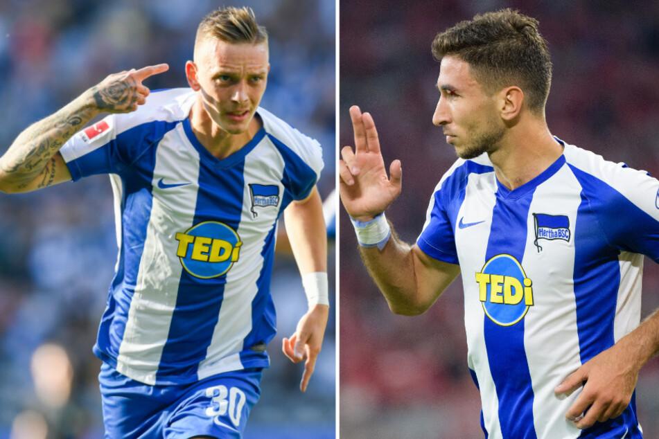 Marius Wolf (25, l.) ist bei Hertha BSC offenbar kein Thema mehr. Marko Grujic (24, r.) könnte erneut zurückkehren.