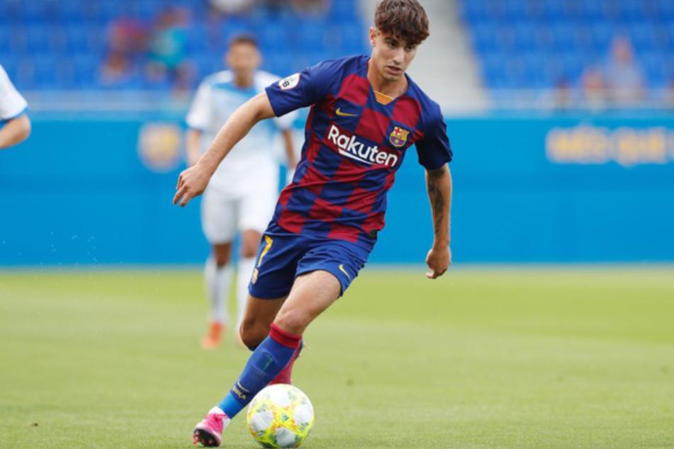 Álex Collado (21) kickt für die Reserve des FC Barcelona.