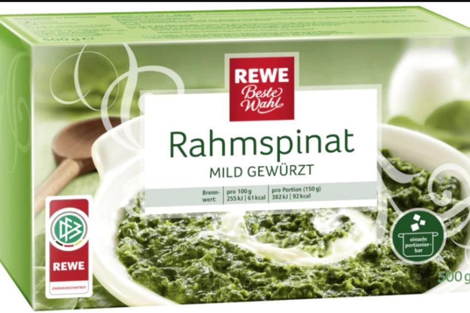 Rewe ruft diesen TK-Spinat zurück. Betroffen sind zwei bestimmte Produktionschargen.