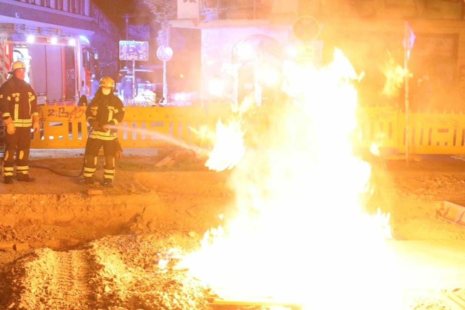 Schon wieder Flammen auf Connewitz-Baustelle