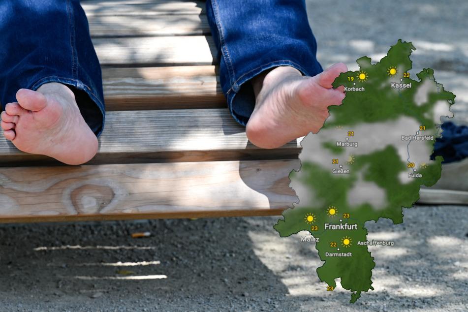 Ab Sonntag können die Hessen wieder die Parks, Schwimmbäder, Gärten und Balkons ohne Regenschirm genießen. (Symbolbild)