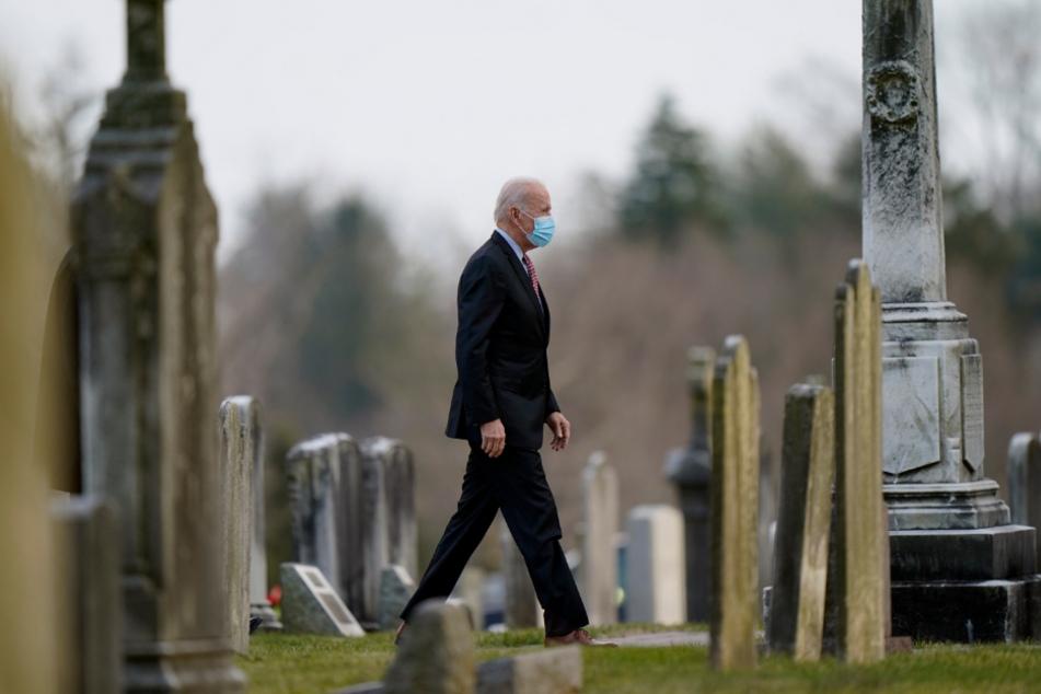Joe Biden besucht die katholische Kirche St. Joseph on the Brandywine in Wilmington.