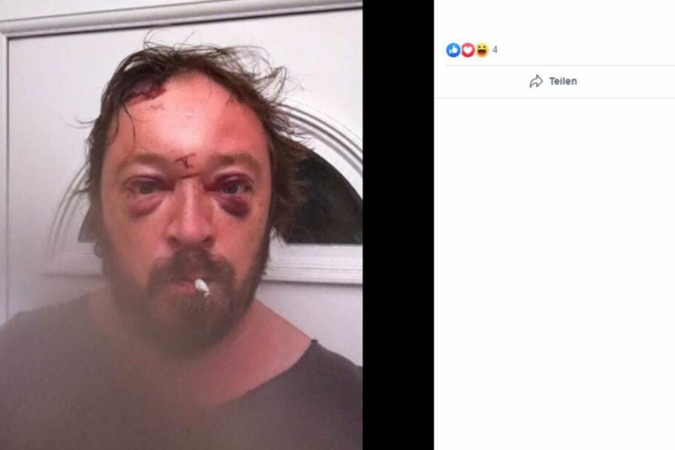 Dieses Selfie schockierte Gene Davies (47). Dennoch war es am 1. Dezember noch dreimal auf seiner Facebook-Seite zu finden.