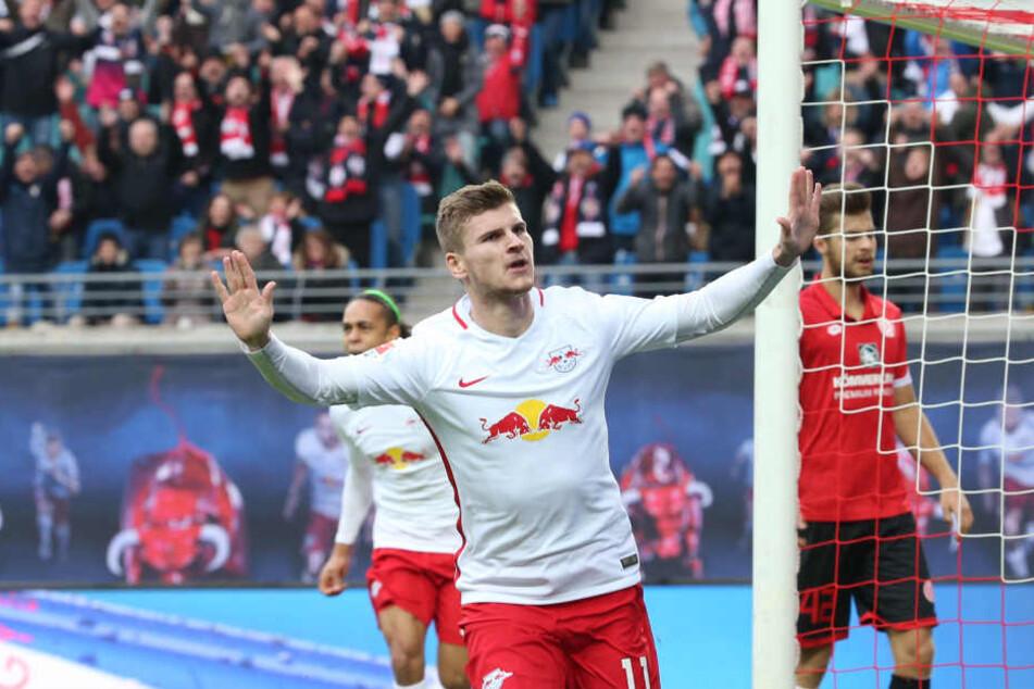 Timo Werner will mit RB auch gegen Schalke ungeschlagen bleiben.