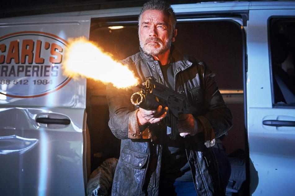"""Er ist zurück: Arnold Schwarzenegger greift in """"Terminator: Dark Fate"""" wieder zu den Waffen."""